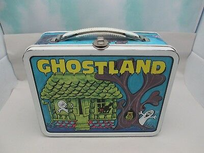 Vintage Metal GHOSTLAND Lunch Box by Ohio Art No Thermos