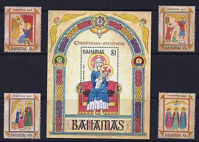 Bahamas 1993 Christmas Issue - MNH Stamps & Sheet - Cat £13.50 - (229)