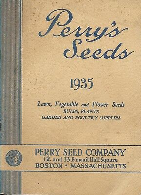 PERRY'S SEED Company Boston Mass. Seed & Garden Tools Catalog 1935
