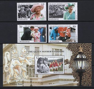 Bahamas 1999 Queen Mother's Century - MNH Stamps & Sheet - Cat £8.85 - (259)
