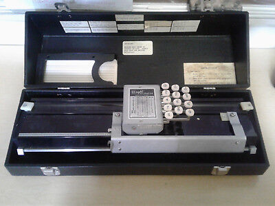 Wright Punch Card Machine - Model 2600 - With punch cards and carrying case