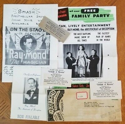 FIVE PIECES OF EPHEMERA FOR RAY-MOND - Aristocrat of Deception