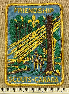 Vintage Boy Scouts of America & Canada FRIENDSHIP PATCH BSA BSC Scout Camp