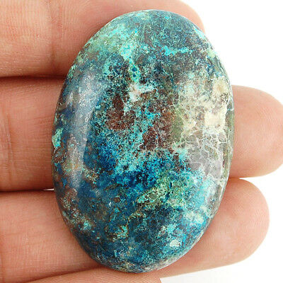 91 Cts Huge Rare Untreated Natural Beautiful Blue Azurite Oval Cabochon Gemstone