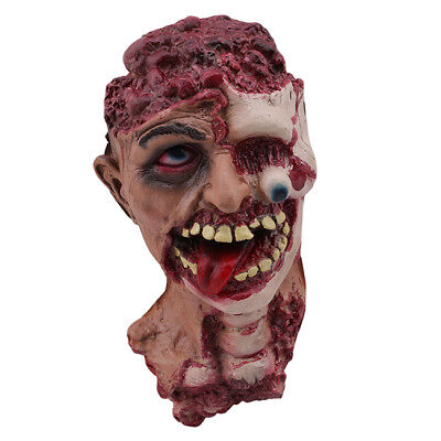 Rotted Zombie Creepy Cut Off Head Haunted House Prop Halloween Forum Novelty LD