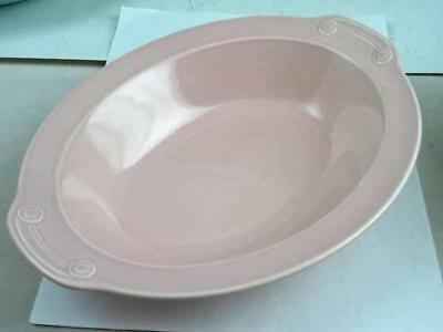 "LuRay Taylor Smith & Taylor Sharon Pink 10 1/4"" Oval Serving Dish"