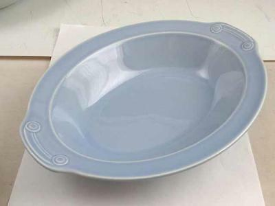"LuRay Taylor Smith & Taylor Windsor Blue 10 1/4"" Oval Serving Dish"