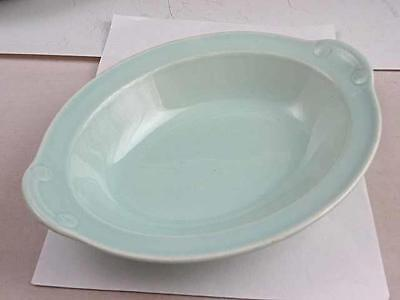 "LuRay Taylor Smith & Taylor Surf Green 10 1/4"" Oval Serving Dish"