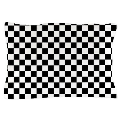 "CafePress - Black White Checkered - Standard Size Pillow Case, 20""x30"""