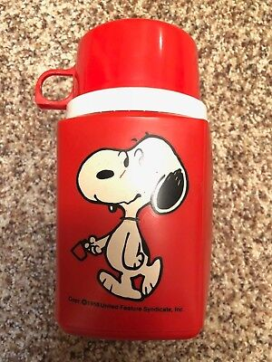 Red Snoopy Vintage Thermos