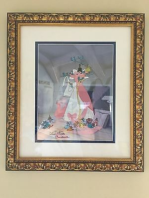 "Disney Cinderella Cel Sericel ""a Lovely Dress For Cinderelly"" Sign Iilene Woods"