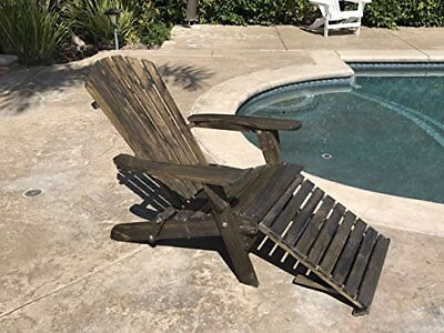 Amazing Outdoor Wood Adirondack Chair Foldable W Pull Out Ottoman Cjindustries Chair Design For Home Cjindustriesco