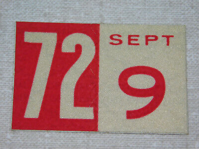 1972 Delaware passenger car license plate sticker