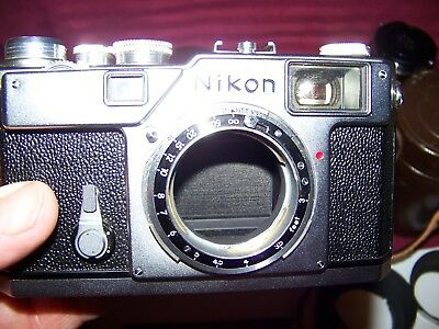 NIKON S3 RANGEFINDER CAMERA With 3 different lenses and parts