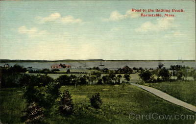 Barnstable,MA Road to the Bathing Beach Massachusetts Divided Back Postcard