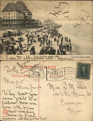 1908 Old Orchard Beach,ME Old Orchard Looking East York County Maine Postcard