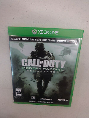 Call of Duty 4: Modern Warfare Remastered (Microsoft Xbox One, 2017) Used