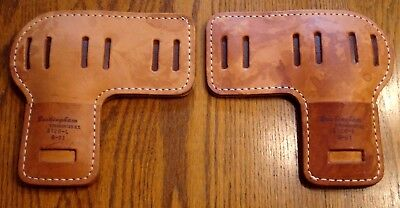 BUCKINGHAM LEATHER PADS ONLY for tree climbing spikes set UNUSED  #3120  6-01