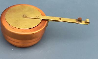 Vintage Copper Chafer Fuel Holder Chafing Buffet Sterno Holder with Cover