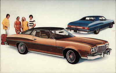 Cars 1975 Gran Torino Brougham Chrome Postcard Creative Associates Inc