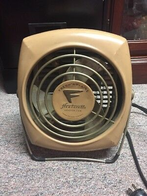 Vintage Antique Fresh'nd-aire Heaterette Heater And Fan.  1940s 1950s
