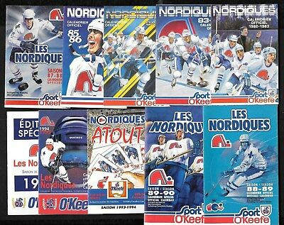 Quebec Nordiques O'keefe Vachon Pocket Schedule Nhl Hockey See List