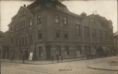 """Germany RPPC Soldiers outside large building """"Hohenzollern"""" WWI Postcard"""