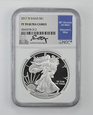 2017-W American Silver Eagle Proof - NGC PF70 UCAM Moy Signed *623