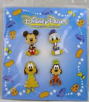 Disney Trading Pins **  AUTHENTIC ORIGINALS BLUE **  Sealed Booster Set of 4