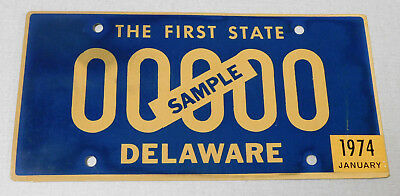 1974 Delaware sample passenger car license plate