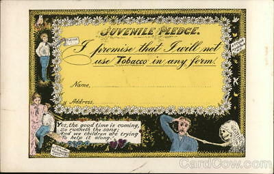 Juvenile Pledge: I proomise that I will not use Tobacco in any form.