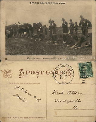 1917 Official Boy Scout Post Card Boy Scouts Of America 1c stamp