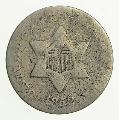 RARE Silver Trime - 1852 Three Cent Silver - 3 Cent Early Coin - Look it up *819