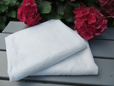"Danish   Pair ( 2)   White of Cream  Handwoven  Linen Sheets  48"" by 78 """