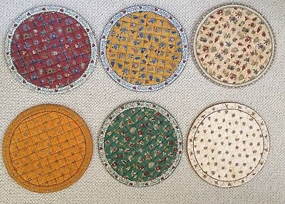 6 Valdrome Round  Quilted Cotton Placemats