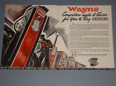 1939 Wayne Pump Co. Ad Oldtime Gas Pump Ad Computers Make It Easier To Buy Gas