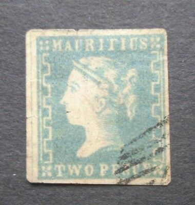 Classic Victoria Two Pence Vf Used Gb Uk Mauritius Nb15.12 Start 0.99$