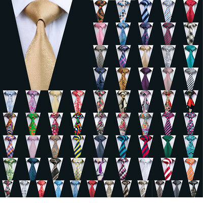 Classic Striped Solid Men's Tie Necktie Silk 73 Colors Jacquard Neck Tie Wedding