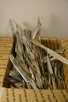 21 LBS  Silverplate Flatware SILVERWARE  Crafts Jewelry KNIVES