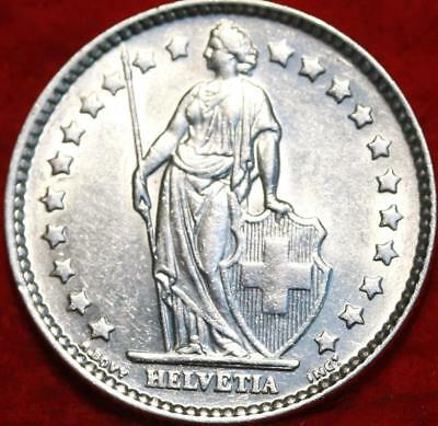 Uncirculated 1963 Switzerland 1 Franc Silver Foreign Coin