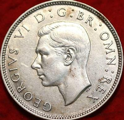 1940 South Africa 2 Shillings Silver Foreign Coin