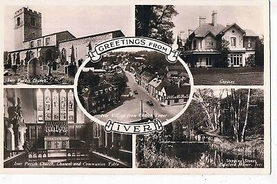 BUCKINGHAMSHIRE -R/P - MULTI VIEWS OF IVER VILLAGE,HIGH STREET,COPPINS etc 1930s