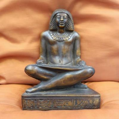 LARGE..Amazing Antique Egyptian Statue Ancient Royal Scribe Collection Sculpture