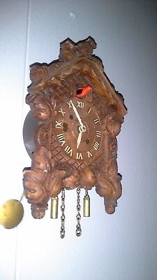 Vintage Keebler & Lux Mini Cuckoo Clock Co, With Key, Works Perfectly