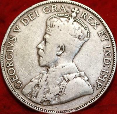 1931 Canada 50 Cents Silver Foreign Coin