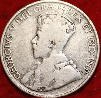 1920 Canada 50 Cents Silver Foreign Coin