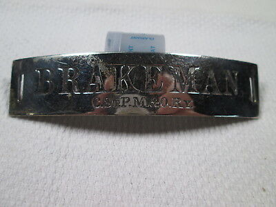CStPM&O Chicago St. Paul Minneapolis & Omaha BRAKEMAN Uniform Hat Badge