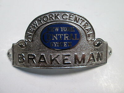 NYCS New York Central System BRAKEMAN Uniform Hat Badge
