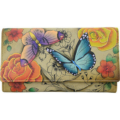 ANNA by Anuschka Hand Painted Three Fold Wallet Women's Wallet NEW
