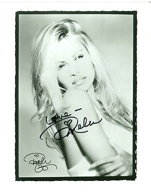 Pamela Anderson autographed hand signed 8 X 10 black & white photo Baywatch COA